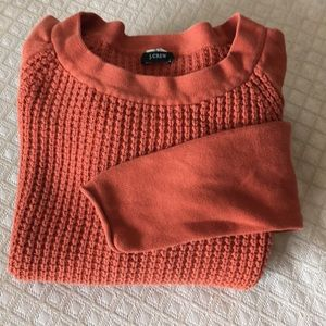 J. Crew Lady's Cotton Waffle Pullover  XS